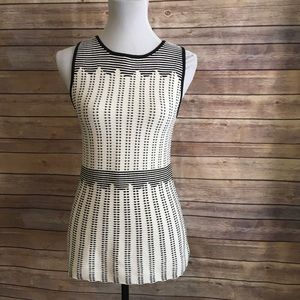 WHBM Striped Fitted Top Size S EUC